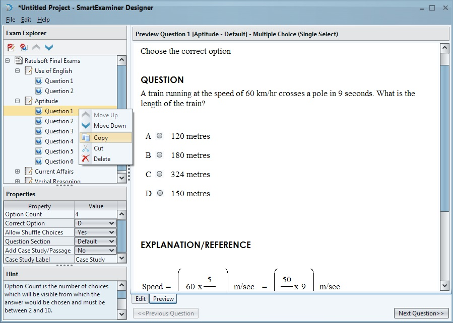 The Computer Based Testing (CBT) and e-Examination software